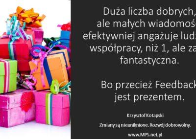 Feedback jest prezentem