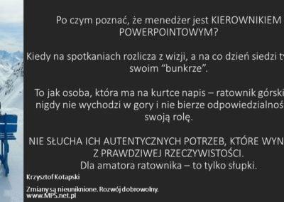 Kierownik powerpointowy